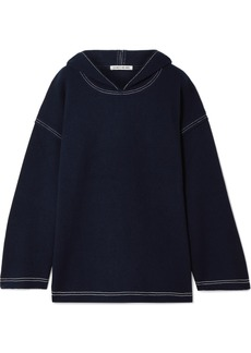 Elizabeth and James Benson Wool-felt Hoodie