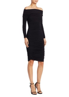 Elizabeth and James Blaise Ruched Sheath Dress