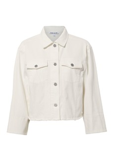 Elizabeth and James Branson White Denim Jacket