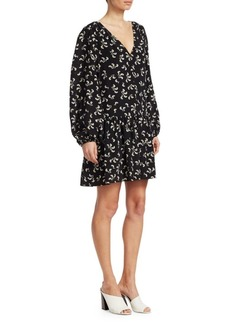Elizabeth and James Carlotta Floral SIlk Peasant Dress