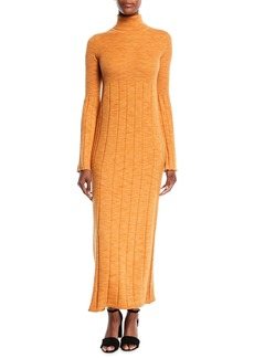 Elizabeth and James Clementine Space-Dye Long Extrafine Wool Turtleneck Dress