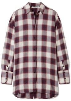 Elizabeth and James Clive Oversized Checked Cotton Shirt