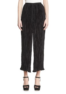 Elizabeth and James Crescent Pleated Flare Cropped Pants
