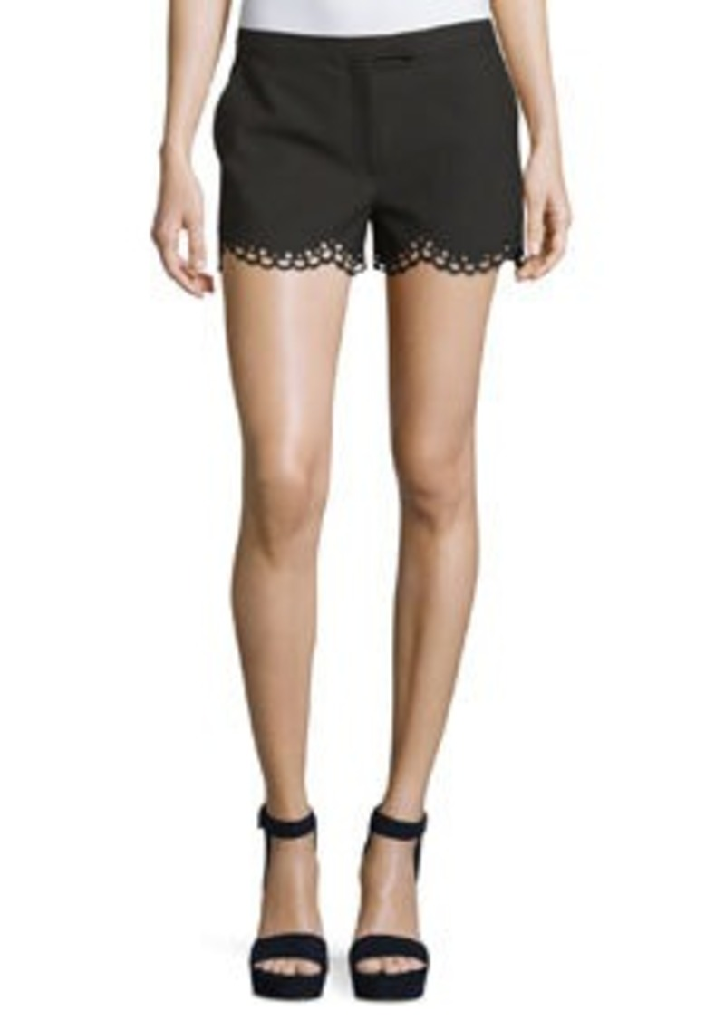 Elizabeth and James Hanlon Perforated Scallop-Hem Shorts