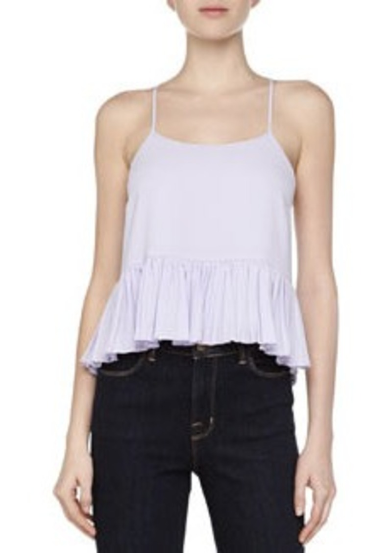 Elizabeth and James Vickie Ruffle-Hem Silk Top