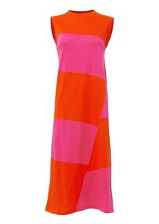Elizabeth and James Dove Colorblock Midi Dress