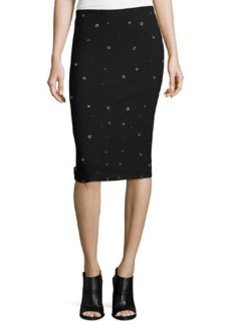 Elizabeth and James Lima Grommet-Embellished Pencil Skirt