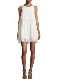 Elizabeth and James Callei Floral Crochet-Trim A-Line Dress