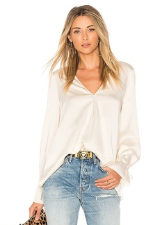 Elizabeth and James Adalina Tie Cuff Blouse in Ivory. - size L (also in M,S,XS)