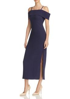 Elizabeth and James Adriana Off-the-Shoulder Midi Dress