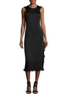 Elizabeth and James Adriene Cross-Back Satin Midi Dress
