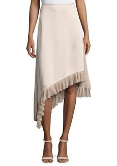 Elizabeth and James Ailie Asymmetric Satin Midi Skirt