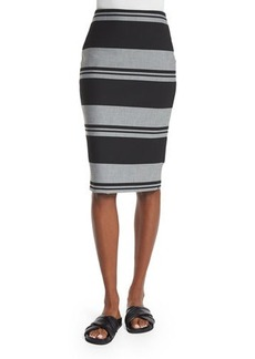 Elizabeth and James Aisling Striped Pencil Skirt