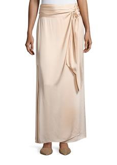 Elizabeth and James Almeria Wrap-Tie Maxi Skirt W/ Slit