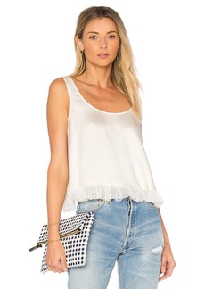Elizabeth and James Andrea Cropped Ruffle Top