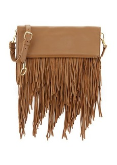 Elizabeth and James Andrew Fold-Over Fringe Clutch Bag