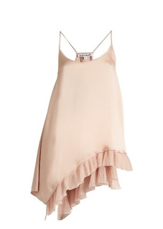Elizabeth And James Angela ruffle-trimmed satin cami top