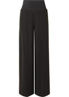 Ansley crepe wide-leg pants