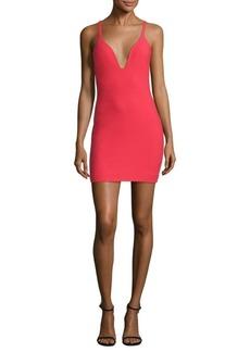 Cinq a Sept Ara Deep V-Neck Mini Dress