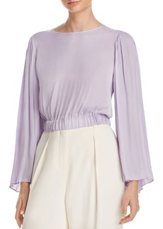 Elizabeth and James Ava Pleated Bell Sleeve Top