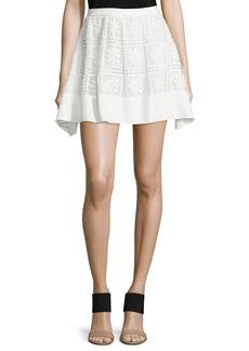 Elizabeth and James Bianca Floral-Macrame Skirt