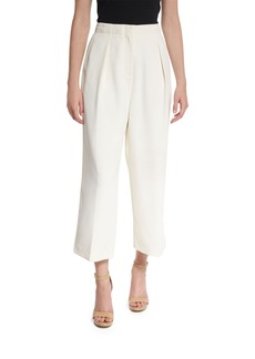 Elizabeth and James Billie Pleated Crepe Culottes