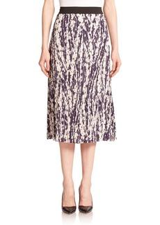 Elizabeth and James Braylon Pleated Floral-Print Midi Skirt