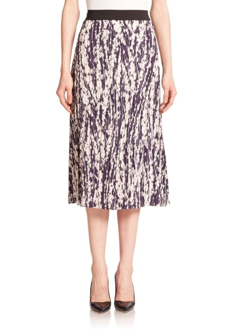 Elizabeth and James Braylon Pleated Floral-Print Midi Skirt