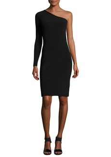 Elizabeth and James Brittany One-Shoulder Ribbed Stretch Mini Dress
