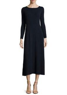 Elizabeth and James Caden Ribbed Tie-Back Midi Dress