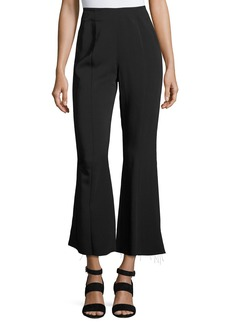 Elizabeth and James Carel Fit & Flare Side-Zip Cropped Pant