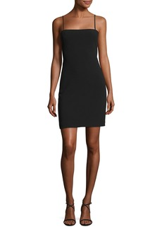 Elizabeth and James Caressa Square-Neck Sleeveless Fitted Cocktail Dress
