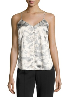 Elizabeth and James Carlo P. Button-Down Silk Camisole Tank