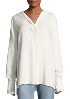 Elizabeth and James Carson Hooded Long-Sleeve Cotton Shirt