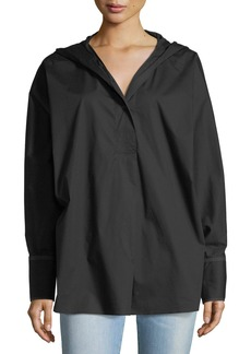 Elizabeth and James Carson Long-Sleeve Hooded Poplin Shirt