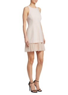 Cinq a Sept Catriona Pleated Hem Dress