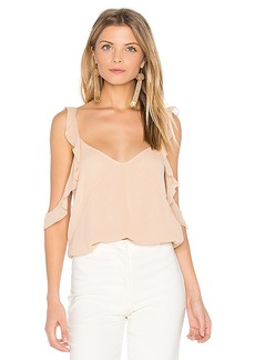 Elizabeth and James Cheryl Ruffle Tank in Blush. - size L (also in M,S)