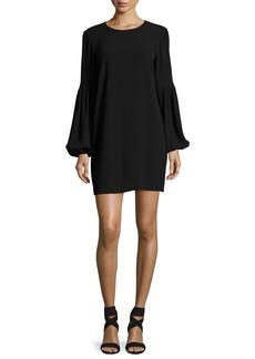 Elizabeth and James Claudia Jewel-Neck Blouson-Sleeve Crepe Mini Dress
