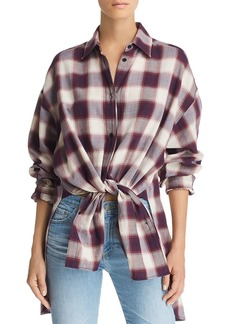 Elizabeth and James Clive Oversize Plaid Shirt