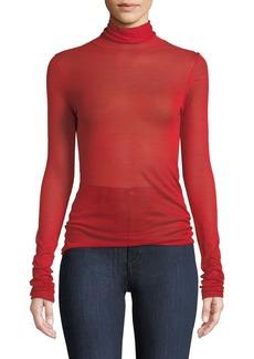 Elizabeth and James Cole Silk-Alpaca Turtleneck Pullover Sweater