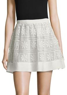 Elizabeth and James Crochet Zip Skirt