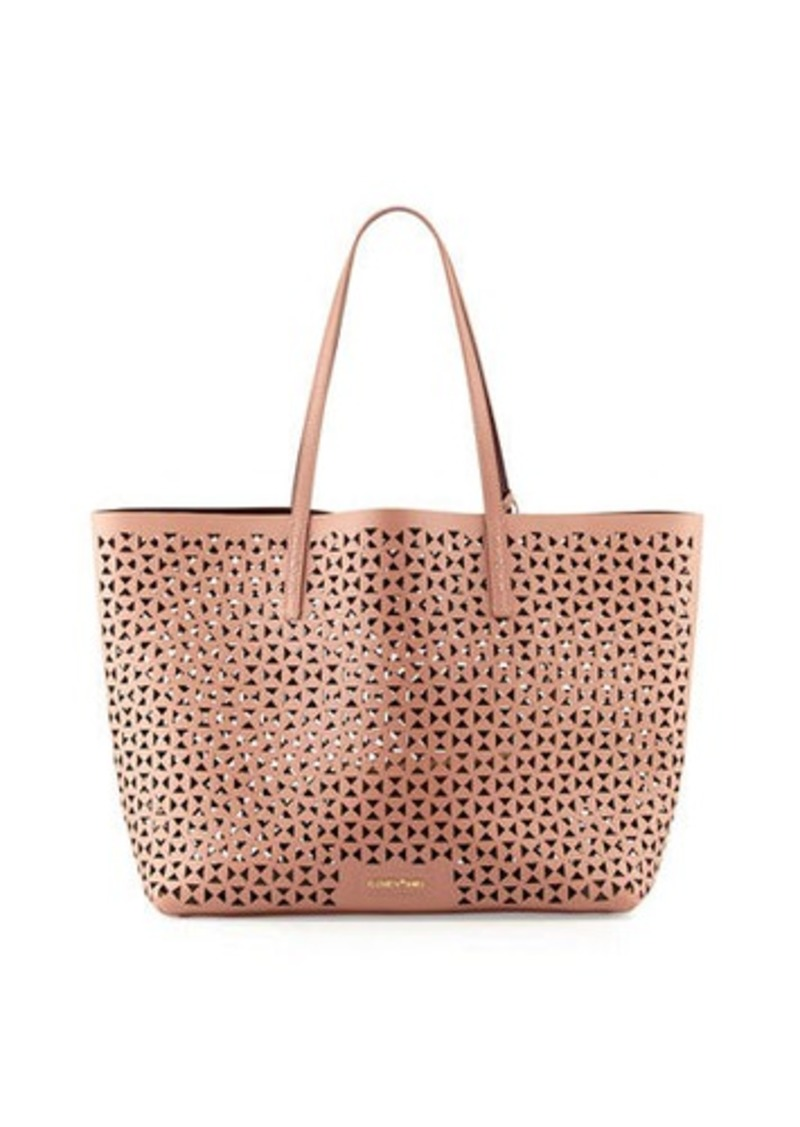 Elizabeth And James Daily Perforated Leather Tote Bag