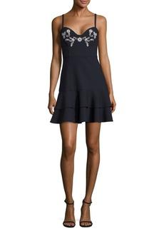 Cinq a Sept Dara Bustier Embroidered Dress