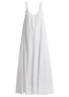 Elizabeth And James Denali floral-embroidered V-neck cotton dress