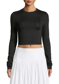 Elizabeth and James Desmond Crewneck Long-Sleeve Crop Top