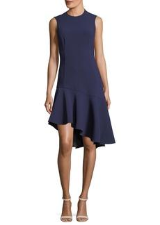 Elizabeth and James Dev Crewneck Fit-and-Flare Stretch-Crepe Dress
