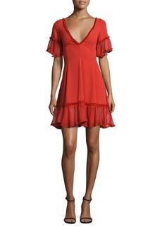 Elizabeth and James Dianne Ruffled Silk Dress