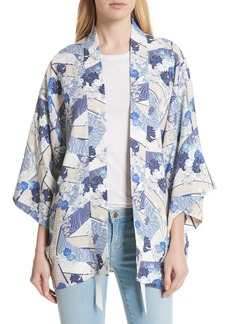 Elizabeth and James Drew Floral Print Kimono Jacket