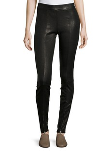 Elizabeth and James Eddine Leather High-Waist Skinny Pants