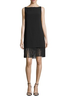 Elizabeth and James Ekon Boat-Neck Sleeveless Shift Tunic with Fringe